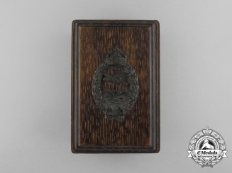 A First War Prussian Pilot's Badge & Hand Made Case