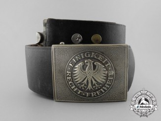 A Post-War West German Bundeswehr EM/NCo's Belt with Buckle