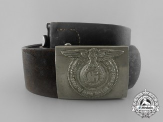 A Waffen-SS EM/NCO's Belt and Belt Buckle by Overhoff  & Cie