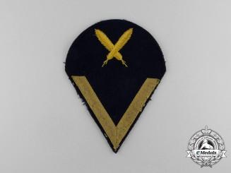 A Kriegsmarine Cerical Lance Corporal Rank Trade Specialist Sleeve Chevron