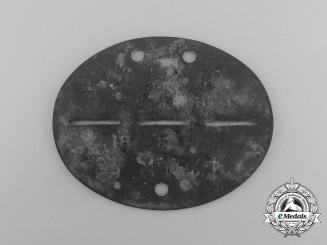 A Second War German 4th Jäger Regiment 78 Identification Tag