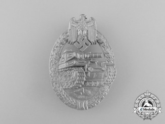 An Absolutely Mint Second War German Silver Grade Tank Badge by Ferdinand Wiedmann