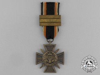 A German Imperial Naval Corps Flanders Cross; 3 Clasps