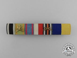 An First War Order of the Lion of Zahringen with Oakleaves Ribbon Bar