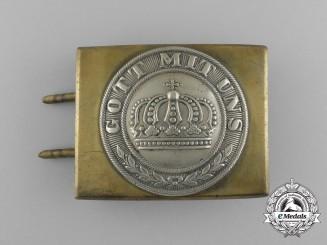 Prussia, Kingdom. A Franco War Heer (Army) EM/NCO's Belt Buckle