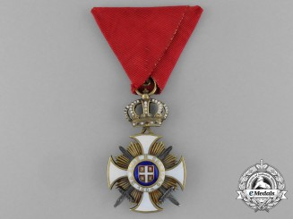 A Serbian Order of the Star of Karageorge; 4th Class Officer with Swords