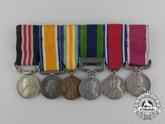 A First War British Military Medal & India Service Miniature Group