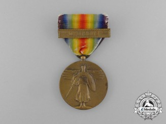 An American First War Victory Medal with Overseas Clasp
