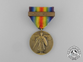 A First War Victory Medal with Atlantic Fleet Clasp
