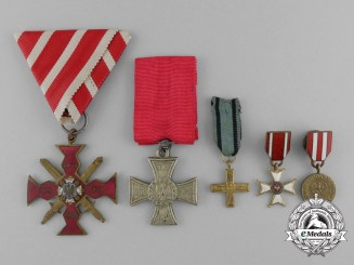 A Polish Officer's Wolyn Cross Medal Grouping