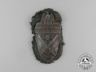 A Tunic Removed Wehrmacht (Heer) Army Issue Demjansk Campaign Shield