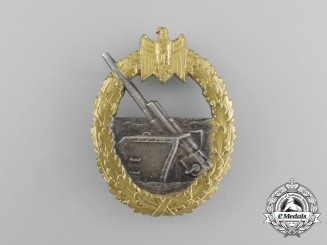 An Early War Kriegsmarine Coastal Artillery War Badge by Schwerin of Berlin