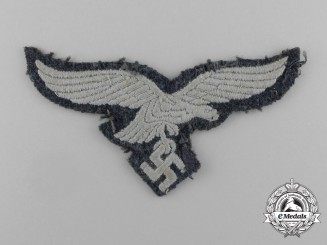 A Uniform Removed Luftwaffe EM/NCo's Breast Eagle