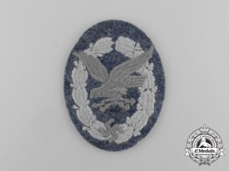 A Mint Luftwaffe Radio Operator & Air Gunner Badge; Cloth Version