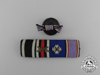 A German Air Defence Medal Ribbon Bar with Boutonniere