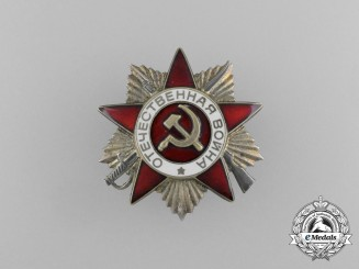 A Soviet Order of the Patriotic War; 2nd Class