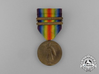 An American First War Victory Medal; Two Clasps