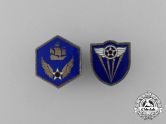 Two United States Army Air Corps (USAAC) Pins