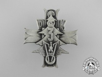 A Polish 3rd Carpathian Rifle Division Badge by F.M. Lorioli Milano