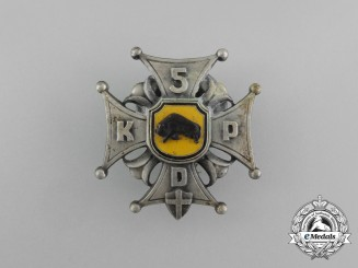 A Second War Polish 5th Kresowa Infantry Division Badge