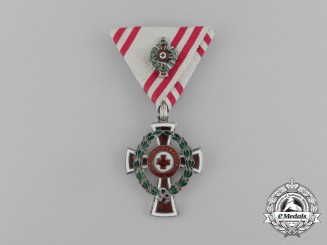 An Austrian Red Cross Officer's Decoration with War Decoration