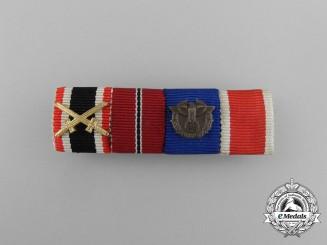 A Second War German Customs & Red Cross Ribbon Bar
