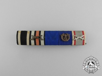 A First War German Customs Medal Ribbon Bar