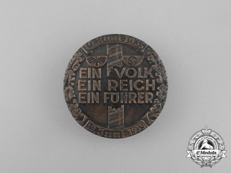 "A 1939 ""One Volk, One Nation, One Leader"" Celebration Badge"