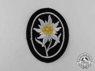 A Mint Waffen-SS Gebirgstruppen Sleeve Edelweiss Patch