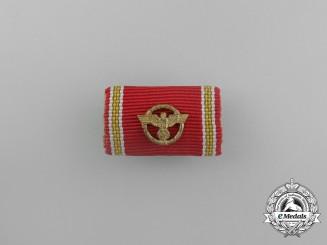 A Fine NSDAP 25-Year Long Service Cross Ribbon Bar