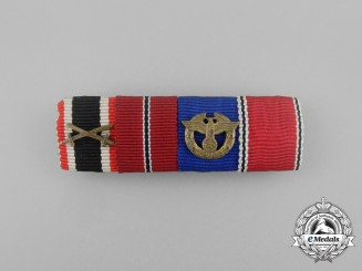 A Second War German Police Long Service Medal Ribbon Bar
