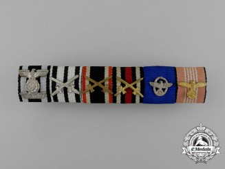 An Excellent German Spange, Police, and Olympic Ribbon Bar
