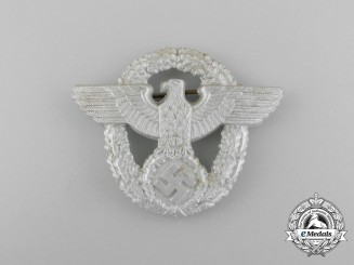 A Second War German Police Cap Eagle