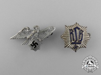 Two RLB (Air Raid Protection League) Membership Badges