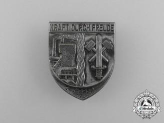 A 1936 Essen Region KDF (Strength Through Joy) Event Badge