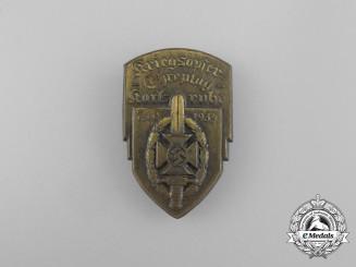 A 1934 Karlsruhe NSKOV War Victim's Remembrance Day Badge
