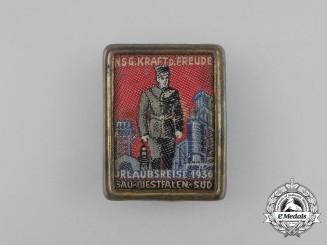 A 1936 KDF Gau Westfalen South Vacation Travel Badge