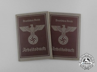 Two Second War Arbeitsbücher (Labour Books)
