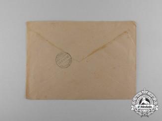 A 1942 Feldpost envelope to Wehrmeldeamt Marburg