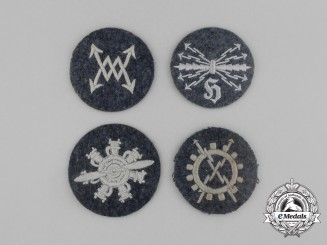 Four Luftwaffe Career/Trade patches