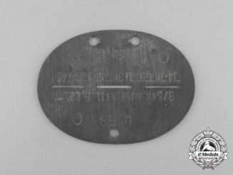 A Second War German Luftwaffe Medical Training Detachment ID Tag