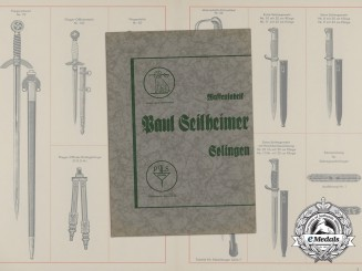 A Sword and Dagger Catalog of Waffenfabrik Paul Seilheimer of Solingen
