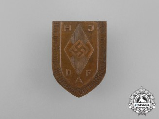 A 1934 HJ/DAF Trades Skills Competition Badge