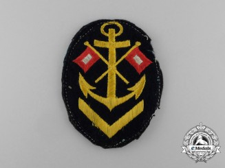 A Kriegsmarine Signals NCO's Career Sleeve Patch