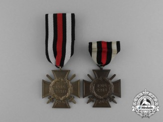 A Grouping of Two Honour Crosses of the World War 1914/18