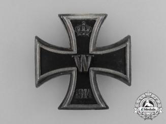 An Iron Cross 1914 First Class; 800 Silver Marked