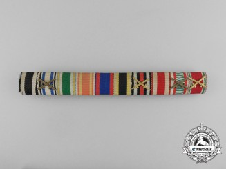 An Extensive German Imperial Long Service Medal Ribbon Bar
