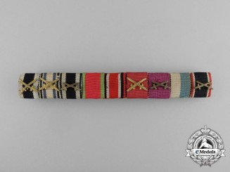 An Excellent First War Bavarian Military Merit Medal Ribbon Bar