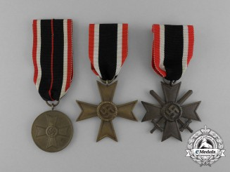A Complete Grouping of Three War Merit Medals and Second Class Crosses