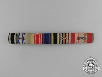 Germany. A Long Service Ribbon Bar with Ten Medals and Awards